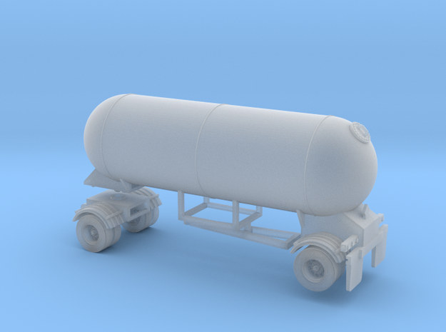 HO 1/87 LPG single-axle Pup/Calf, trailer 15 3d printed