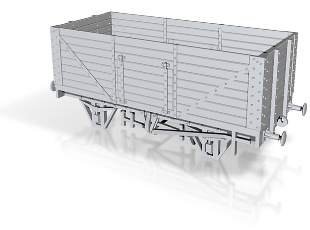 Private Owner Wagon: 18ft, 8 Planks, Side Doors 3d printed