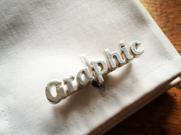 Graphic Typelink 3d printed Floating type design for real typography fans