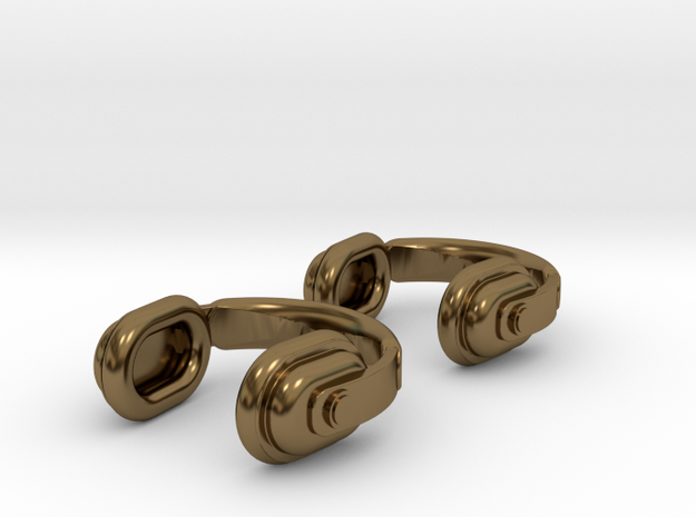 Headphones Cufflinks 3d printed