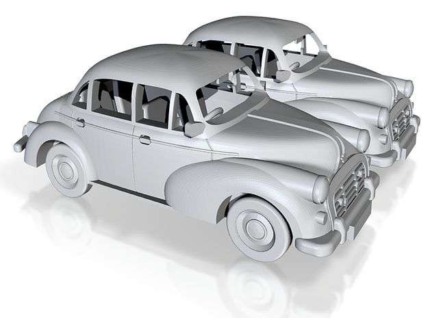2 Morris Minors at 1/48 3d printed
