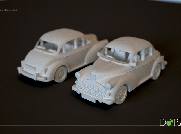 1/48 Scale Morris Minor 3d printed Rendering of model