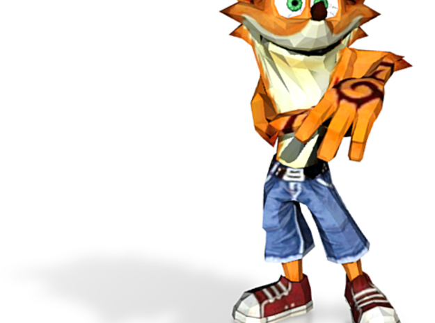 Crash Bandicoot - Funny pose 3d printed