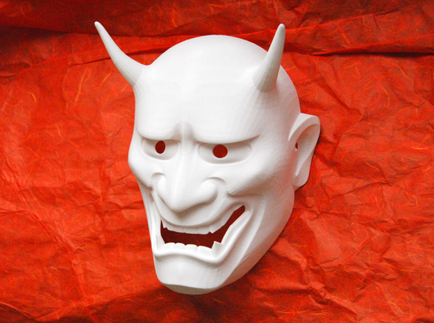 Japanese Hannya demon mask 3d printed