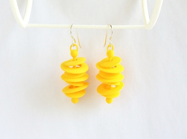 Orbital Drift Earrings 3d printed 60's Space Age Earrings