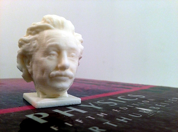 Albert Einstein Mini Bust 3d printed