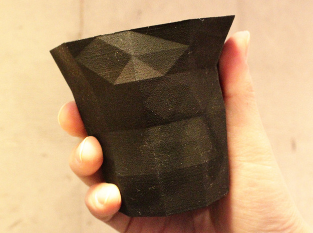 Polygon Little Cup 3d printed Black Strong & Flexible