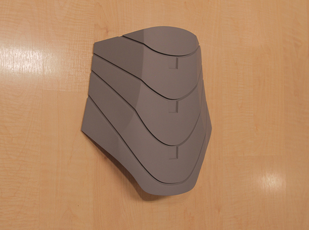 Iron Man Mark IV Abdominal Plate 3d printed Actual 3D Print, After being sanded and primed
