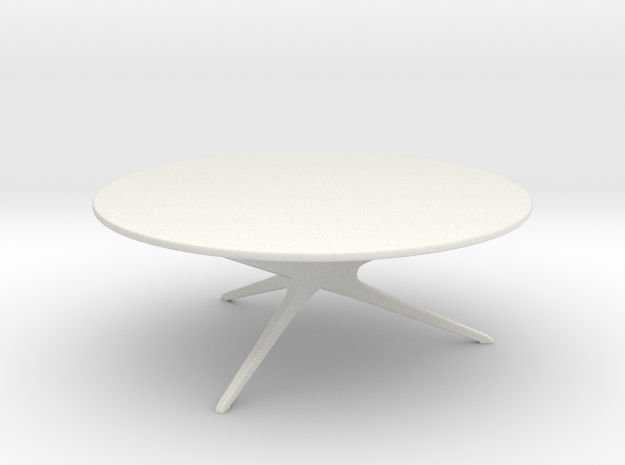 Mid-Century Modern Round Coffee Table 1:24