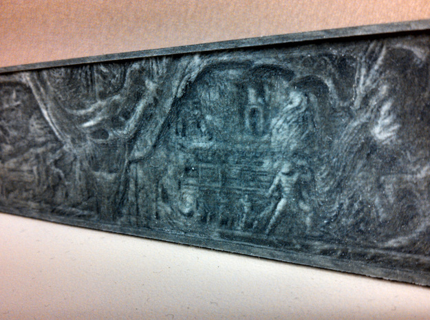 Mini-Mural inspired from Aldiuns Wall Skyrim 3d printed