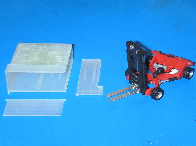 1:87 forklift with transportbox - Mitnahmestapler 3d printed