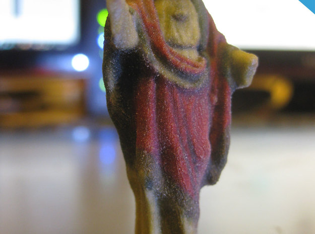 Jezus Christ miniature 10cm 3d printed Printed in full color sandstone 5cm