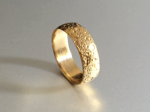 Moon Ring 3d printed