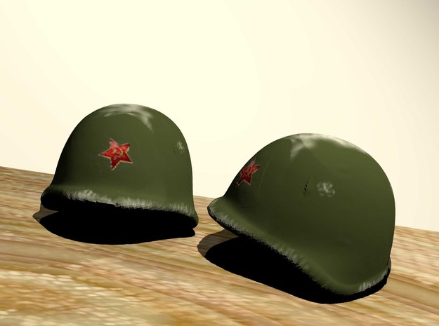 Russian Helmet with red star for lego 3d printed