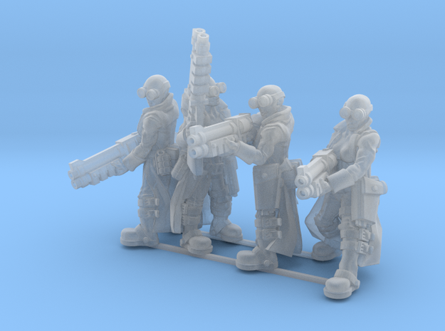 Female Stealth Gang with Shotguns 3d printed This is a 3d render, not a photograph of the model printed in the material.