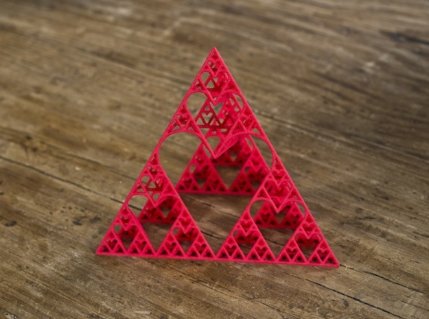 Sierpinski tetrahedron of Love 3d printed