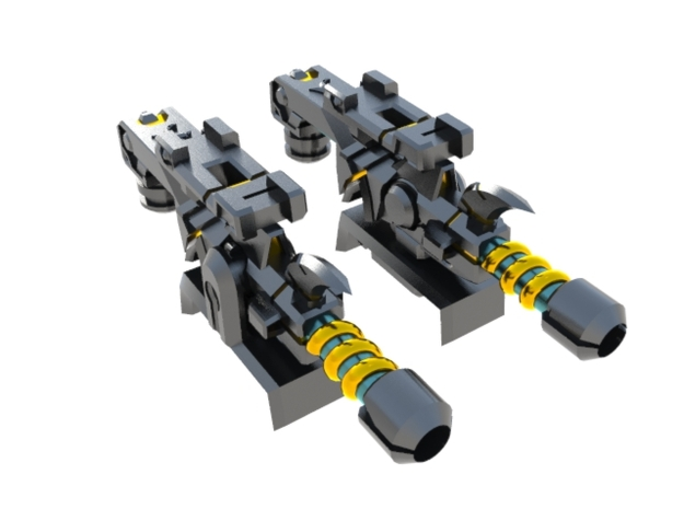 Shock Lasers (X Component 1) 3d printed
