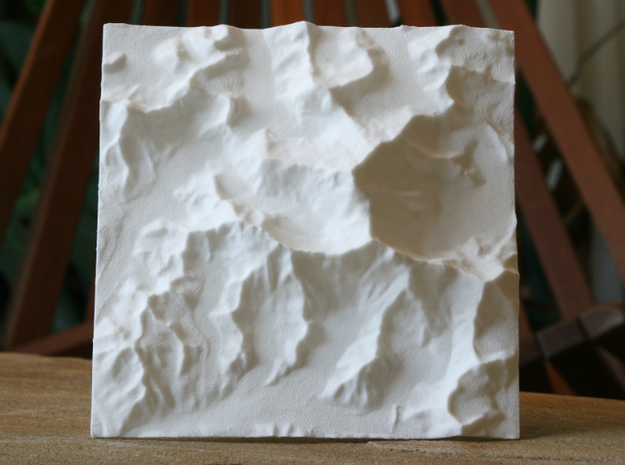 4''/10cm Mt. Everest, China/Tibet, WSF 3d printed Photo of older design; newer design is more detailed and features larger Everest