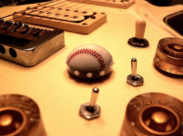 Guitar Volume/Tone Knob - Baseball 3d printed Guitar Volume/Tone Knob Actual