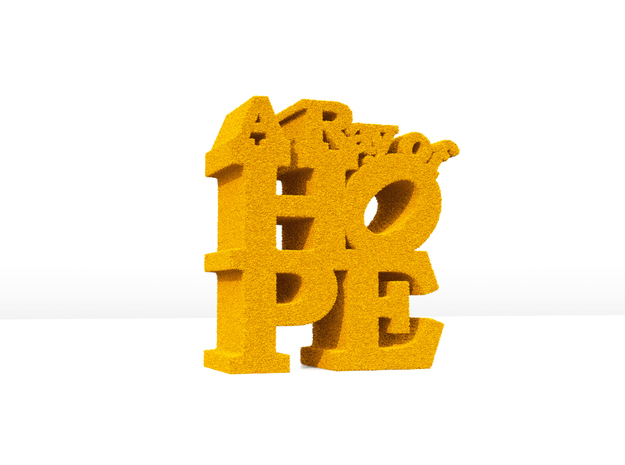 A RAYOF HOPE_Paper Weight 3d printed Image of the publication will be sample only. Appearance depends on the material you choose.