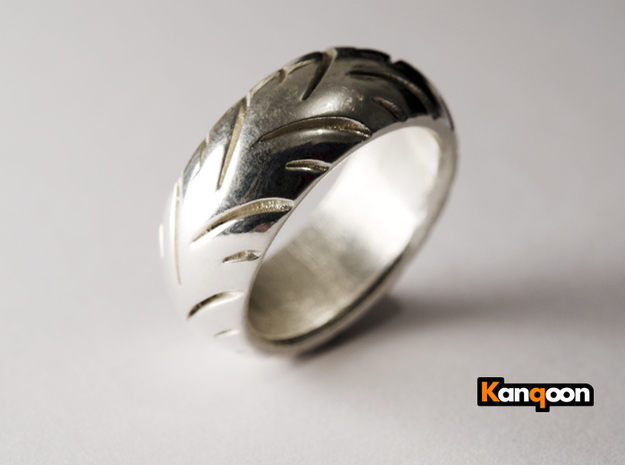 Ray Zing Massiv - Ring - US 9 - 19 mm inside 3d printed Polished Silver printed