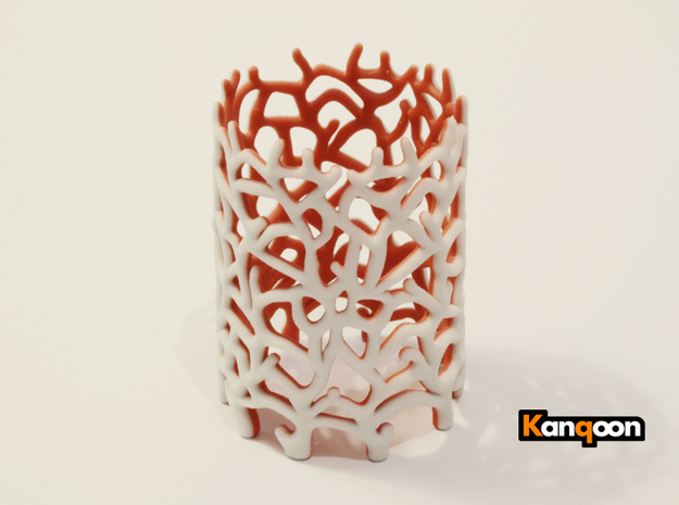 Coraline Tealight 2 Color Sandstone 3d printed 2 Color Sandstone printed