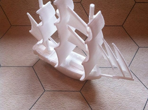 "HMS Surprise ~1/700 scale 3d printed Works great on 1.5"" hex/squares"