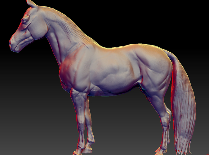 Sculpted with Zbrush.