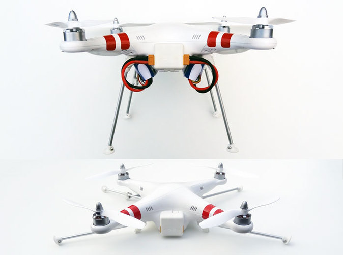 DJI Phantom Foldable Battery Landing Gear overview