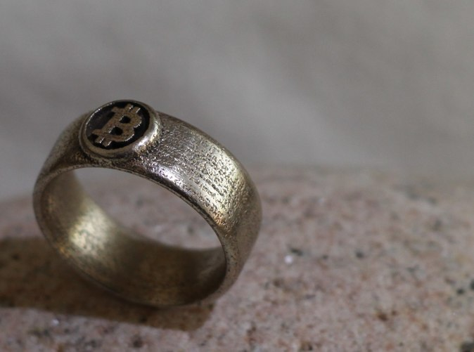 Bitcoin Ring - Stainless steel [manually polished]