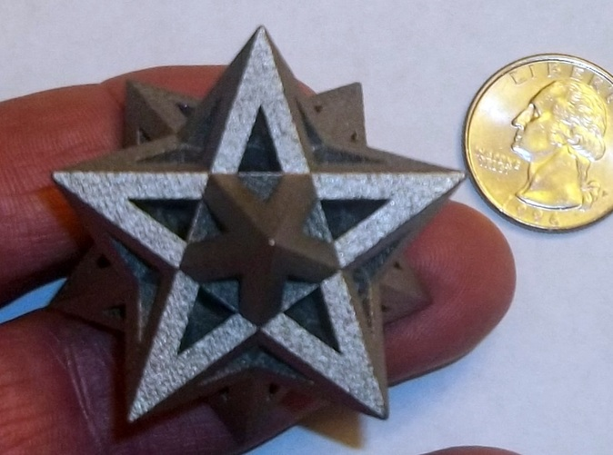 Stellated Dodecahedron in polished nickel steel