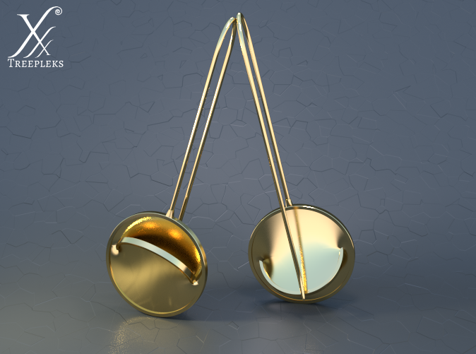 Golden brass (cycle render).