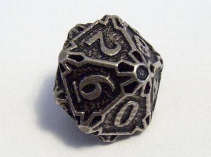 A Die10 in stainless steel and inked.