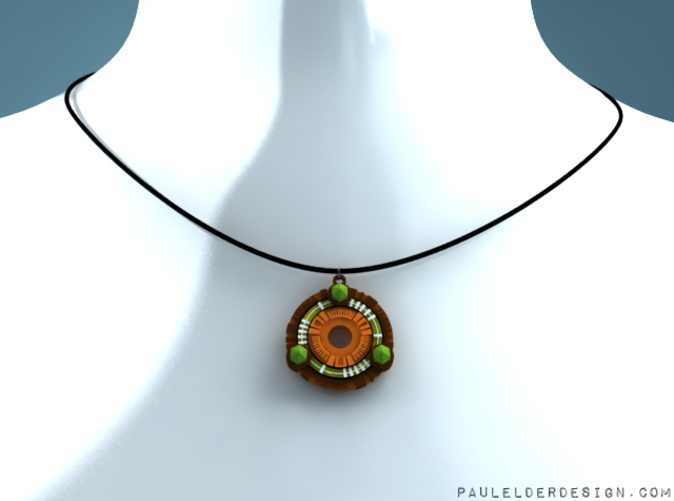 Model on my virtual necklace display