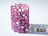 Coraline Tealight in Purple/Pink Sandstone 3d printed Full Color Sandstone printed