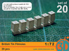 British Tin Flimsies 1/72 scale pack of 20 3d printed