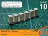 British Tin Flimsies 1/72 scale pack of 10 3d printed