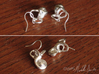 Inner Ear / Cochlea Earring Pair (left & right) 3d printed No earring hooks included.