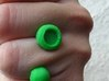 'o' double head ring 3d printed