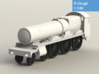 GWR Saint class locomotive, N Gauge 3d printed Rendering - front