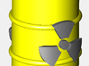 Radioactive Barrel, Yellow 3d printed A rendering of the drum. The radioactive sign will be darker when printed.