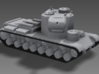"1/100 KV-5 3d printed A quintessentially Russian design, the KV-5 was ""all turret, no tank."""