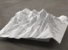 6'' Grand Tetons Terrain Model, Wyoming, USA 3d printed Radiance rendering of model, viewed from the East