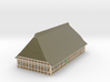 1/300 North German Timberframe Farm House - Brick 3d printed