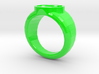 Green Lantern Ring 3d printed