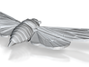 Bronze-polished Steel Cicada 3d printed