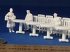 5 Round Tables and 20 Chairs HO Scale 3d printed