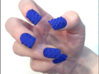 Cube Nails (Size 1) 3d printed Blue Strong and Flexible Polished