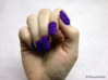 Cube Nails (Size 3) 3d printed Purple Strong and Flexible Polished