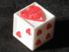 Ace Dice 3d printed Colored with markers.